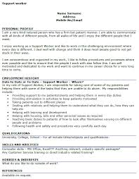 Resume Example Residential Support Worker Cover Letter Resume