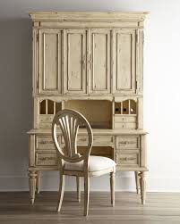 antique white desk hutch chair neiman marcus has room for flatscreen but not as much storage below the desk and hutch are sold separately