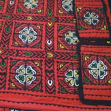 Ralli Design Shirts Buy Red Color Handmade Sindhi Ralli Rally Appliqued