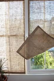 The Shingled House DIY: Easy Burlap Shades (for Less Than $20 Each).  Basement Window TreatmentsEasy ...