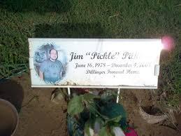"""Jim Ashley """"Pickle"""" Pilkinton (1978-2008) - Find A Grave Memorial"""