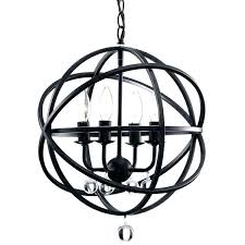 globe chandelier hanging light fixture sphere orb ball round pendant iron rustic modern glass i
