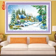 Promotion DIY Diamond Mosaic 5D <b>Diamonds Embroidery Winter</b> ...