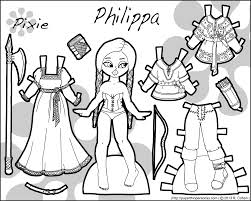 Small Picture philippa fantasy pixie paper doll bwpng 15001200 paper dolls