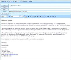 Sample Job Application Email Message How To A Resume Emailing Format
