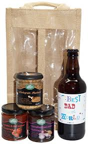 uk giftbox best dad in the world beer and chutney gift set
