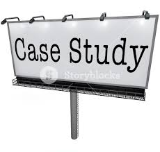 case study words on a white billboard banner or sign to  case study words on a white billboard banner or sign to illustrate a business best practice example or anecdote