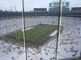 Lambeau Field View From Indoor Club 674 Vivid Seats