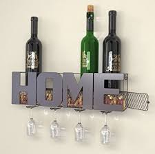 long wall wine rack. Perfect Wall HOME Wall Mounted Metal Wine Rack With 4 Long Stem Glass Holder  Cork  Storage On
