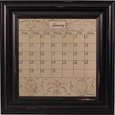 Framed Dry Erase Board Framed Calendar Boards Dry Erase Calendars