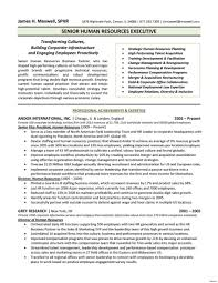 Hr Resume Templates Free Resume Template Human Sample Resources Executive Samples Resource 22