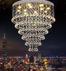 modern re crystal chandelier large k9 crystal ceiling lighting fixtures hotel projects staircase lamps restaurant cottage lights re crystal