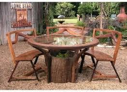 rustic wooden outdoor furniture. Patio Ideas ~ Rustic Wooden Outdoor Dining Table Wood Furniture