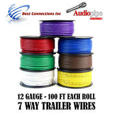 7 way trailer cord trailer wire light cable for harness 7 way cord 12 gauge 100ft roll 7