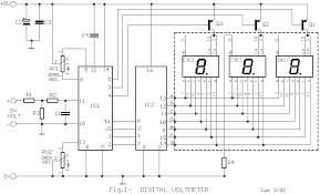 circuit zone com electronic projects electronic schematics diy digital volt ampere meter