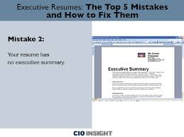Executive Resumes The Top 5 Mistakes And How To Fix Them Careers
