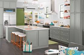 Grey Ceramic Long White Desk Kitchen Cabinet Color Trends Large Square Grey  Stained Wooden Dresser Smooth Painted Modern Design