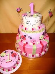 Cute Cakes For A 1 Year Old Baby Girl Pink And Yellow Google