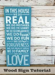 in this house we do family wood sign tutorial 2121x2899