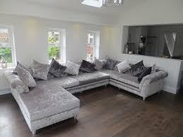 grey velvet sectional. Grey Velvet Sectional Sofa Attractive Sofas Modern Velour Intended For 16 L