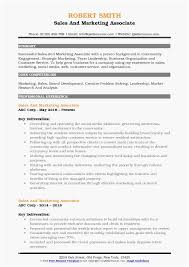 Sales Associate Resume The Best Marketing Associate Resume For Every Single Type Of