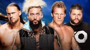 enzo amore and big c vs chris jericho and kevin owens