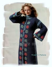 1970 S American Crochet Pattern By Pdf To Make A Long Kaftan Coat Kaftan Jacket Pattern