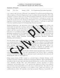 Statement Of Purpose Template Unique Goal Statement For Graduate