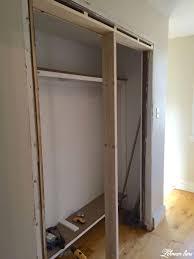 diy closet door makeover bi fold to hinged framing out the new doorway 768x1024 15 diy