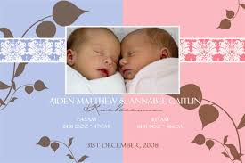twin birth announcements photo cards birth announcements and baby thank you photo cards for twin boy and