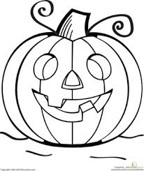 pre holidays worksheets color the grinning jack o lantern