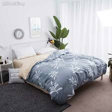 hot 1 pc plant printed duvet cover bedding set bed set polyester cotton bed