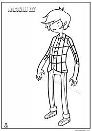 Small Picture Adventure Time Coloring Page Marshall Lee