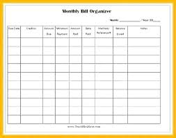 Bill Of Payment Template Bill Pay Template Printable Bill