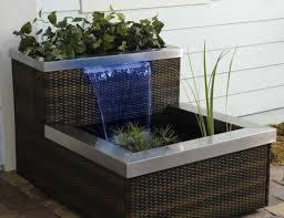 Build A Small Indoor Fountain With Wicker Ideas