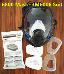 6800 gas mask add 3m 6006 cartridge 7pcs suit full face facepiece respirator for painting spraying