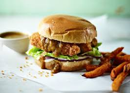 Cover and refrigerate for at least 1 hour to blend the flavors before serving. Chicken Katsu Curry Burger Recipe