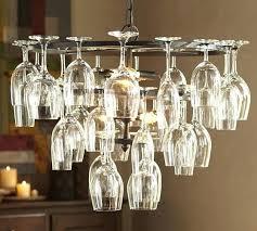 pottery barn wine glasses glass rack chandelier rustic wood shelf s97 rack
