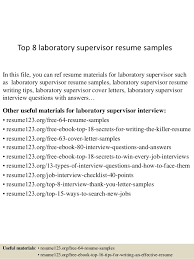 Laboratory Manager Resume Best Lab Manager Resume Top 8 Lab Manager