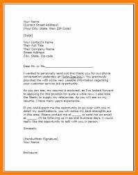 11 Follow Up Letter Templates Resume Type