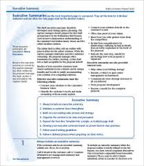 Executive Summary Sample For Proposal 12 Best Executive Summary Templates Samples Pdf Free
