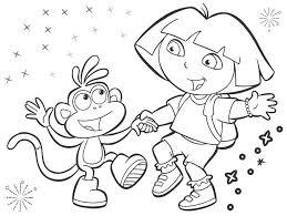 Dora The Explorer Coloring Book Games Online Pdf Pages Books Adult