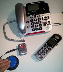 uniden corded cordless phone with adapted sos pendant