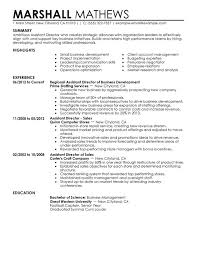 Assistant Director Resume Examples Created By Pros Myperfectresume