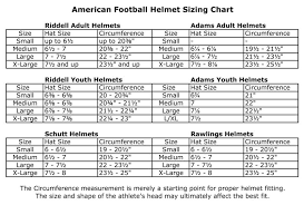Riddell Helmet Fitting Chart Paradigmatic Football Helmet Dimensions How To Size A