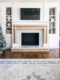 how to build a surround on an existing brick fireplace