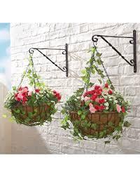 artificial outdoor hanging baskets uk designs