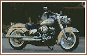 Harley Motor Size Chart Amazon Com Cross Stitch Chart Harley Davidson Deluxe Review