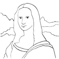 Coloring Pages Mona Lisa Coloring Page Pages Download Large Image
