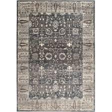 safavieh valencia dark grey traditional rug 9 x 12